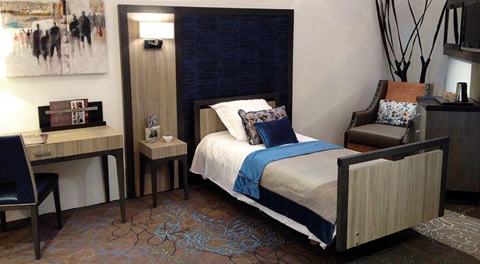 Mobilier chambres maison de retraite ehpad collinet for Deco chambre de luxe