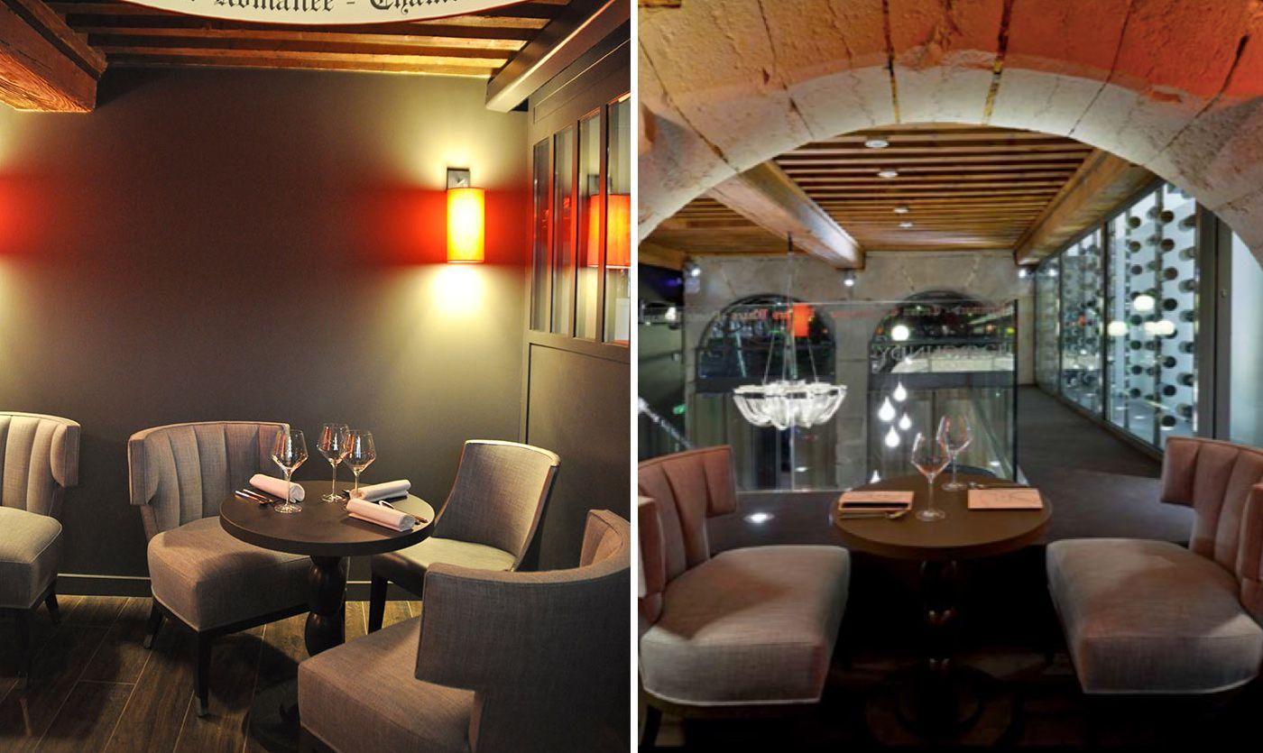 le mobilier du bar vins burgundy lounge lyon collinet. Black Bedroom Furniture Sets. Home Design Ideas