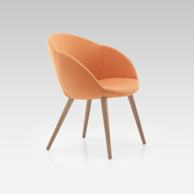 Fauteuil design orange Delta