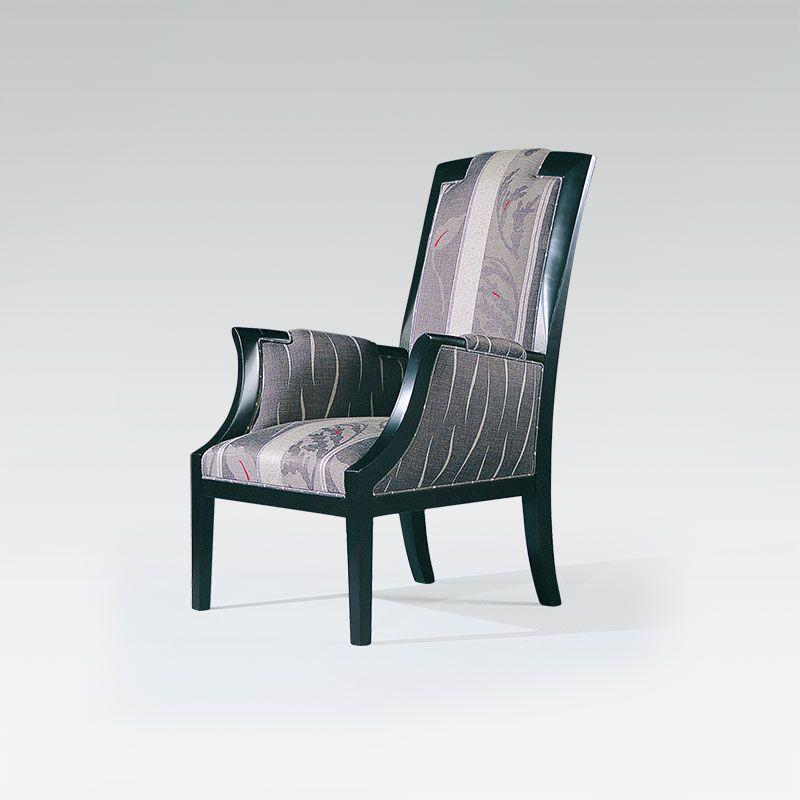 fauteuil moderne en tissu et bois pour chr collinet. Black Bedroom Furniture Sets. Home Design Ideas