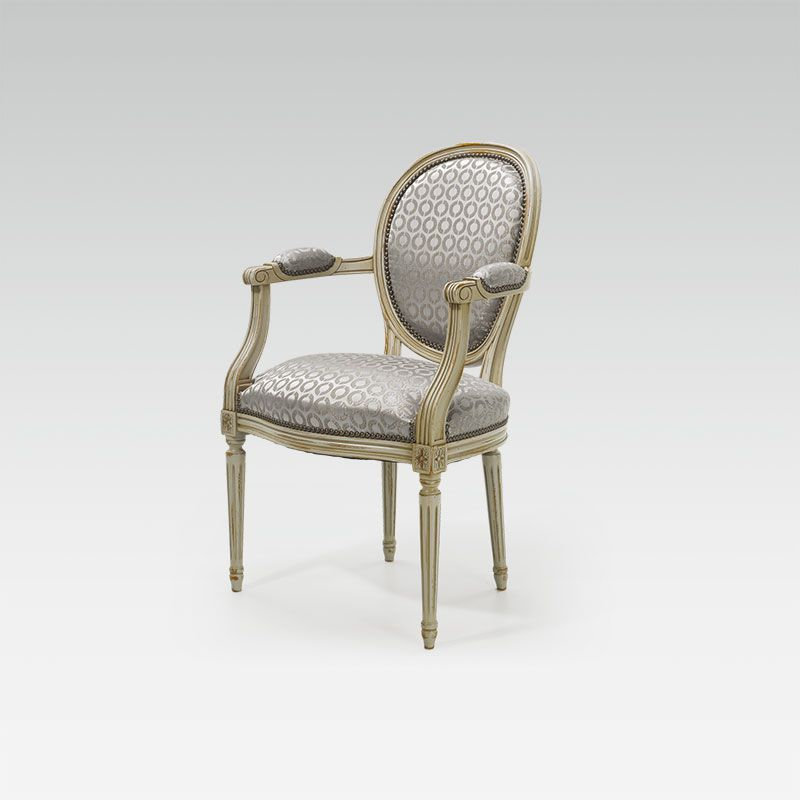 Fauteuil louis xvi medaillon collinet for Style de chaise