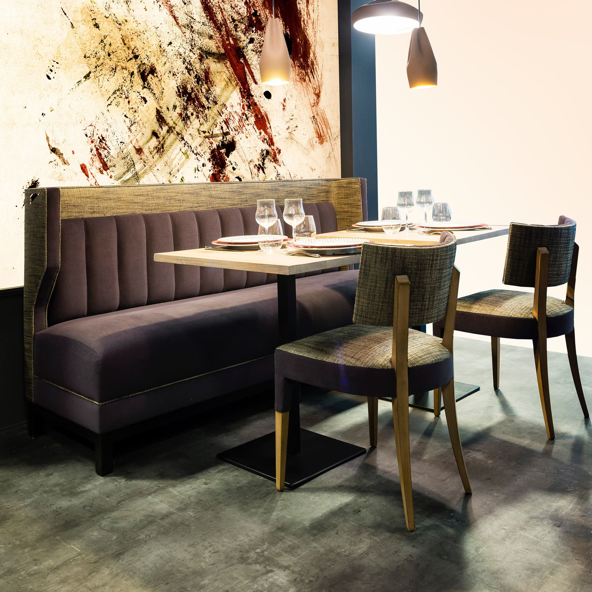 banquette pour restaurant caf largo collinet. Black Bedroom Furniture Sets. Home Design Ideas
