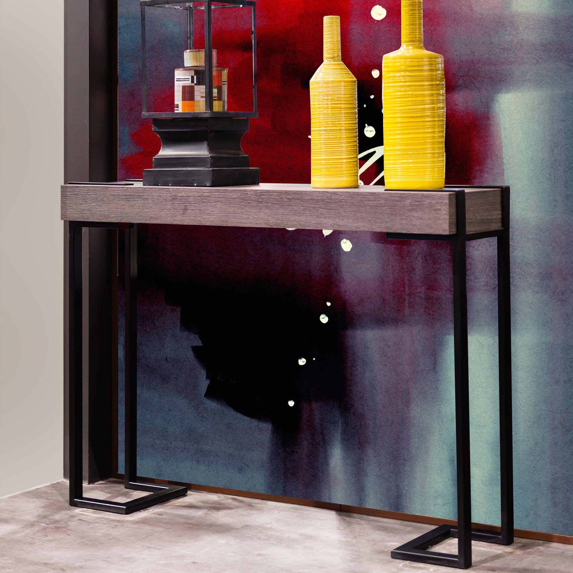 console en bois et m tal pour h tel quadro collinet. Black Bedroom Furniture Sets. Home Design Ideas