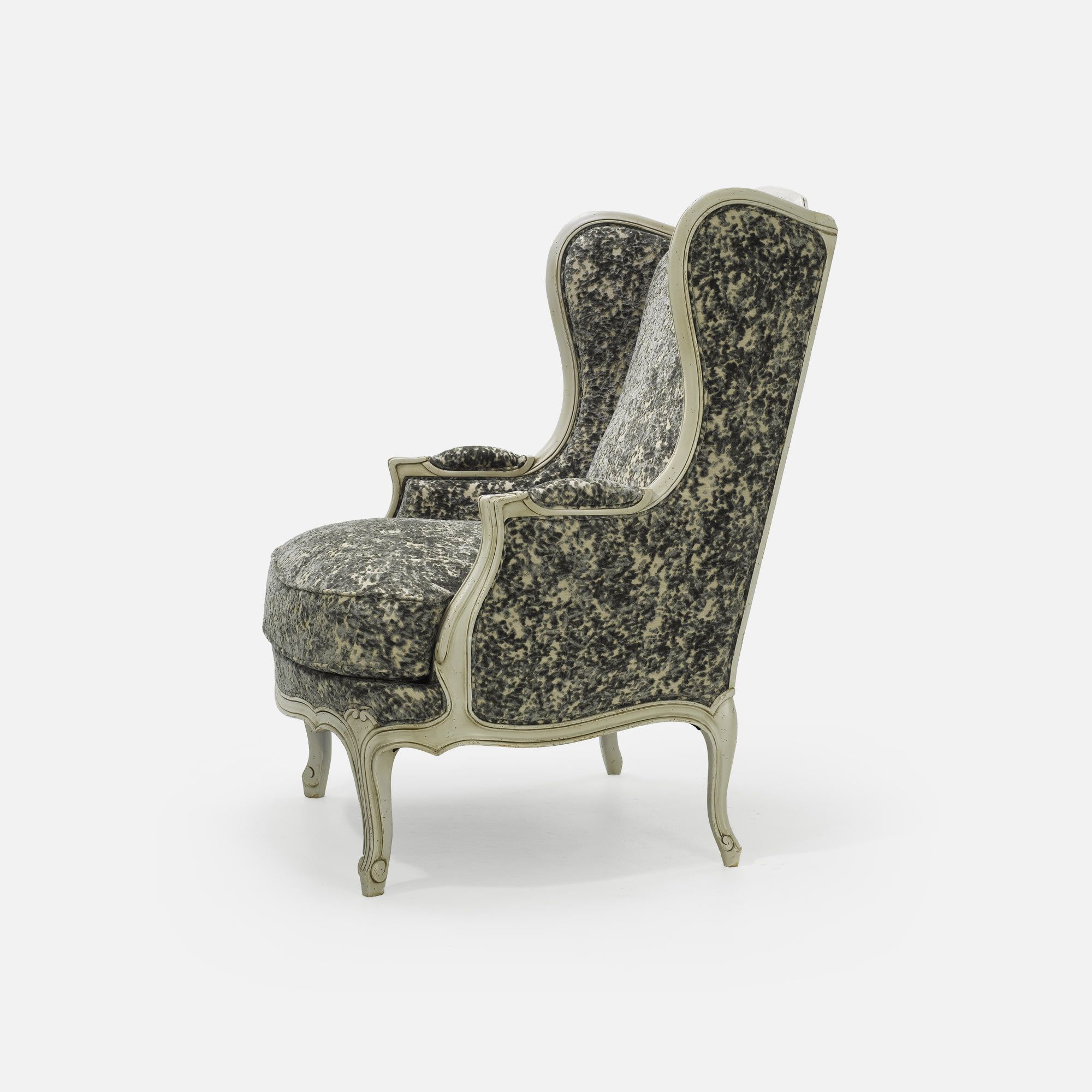 fauteuil berg re louis xv oreilles si ge de style. Black Bedroom Furniture Sets. Home Design Ideas